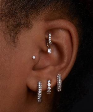"5/16"" Diamond Five Row Pavé Hoop Earring"