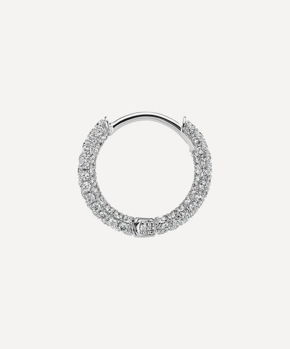 "5/16"" Diamond Five Row Pavé Hoop Earring"