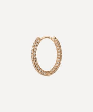 "3/8"" Diamond Five Row Pavé Hoop Earring"
