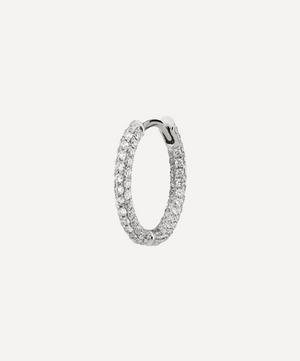 "3/8"" Diamond Five Row Pave Earring"