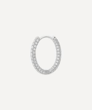 "3/8"" Diamond Five Row Pavé Hoop Earring"