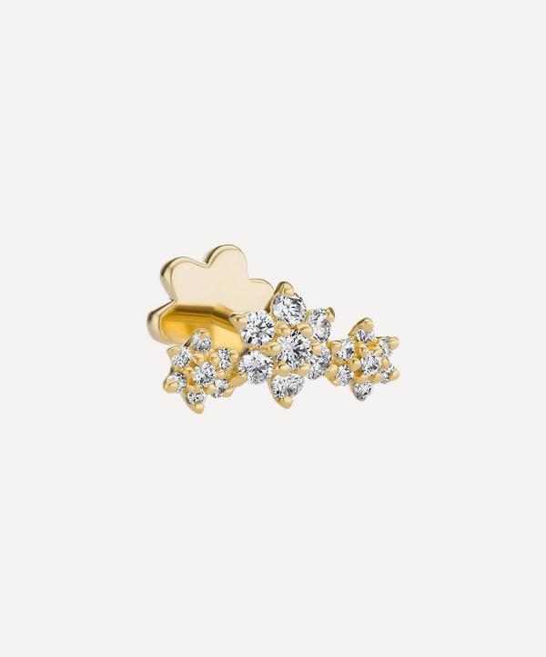 Maria Tash - 18ct Diamond Flower Garland Single Threaded Stud Earring