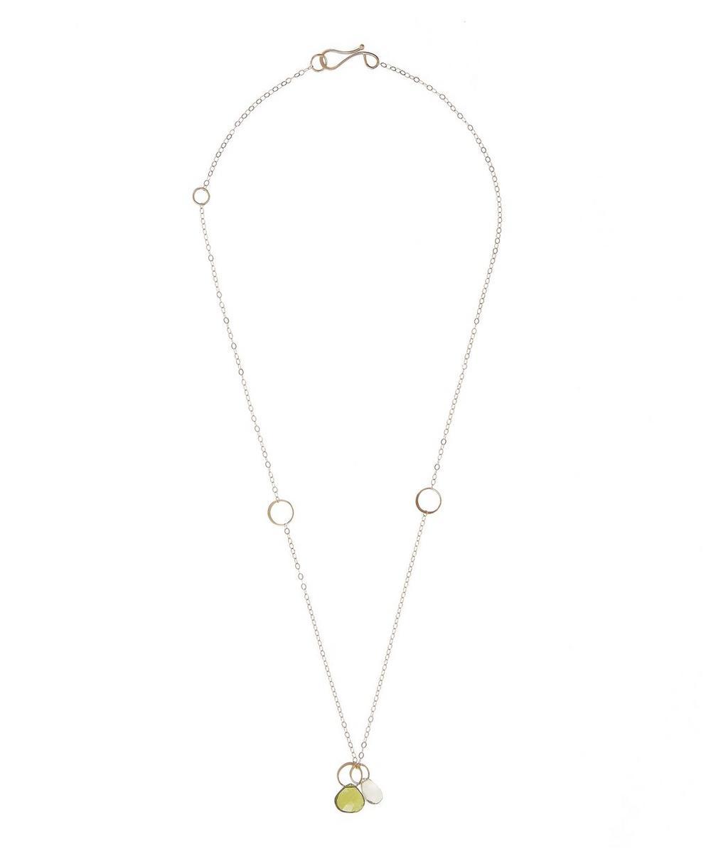 Gold Idocrase and Lemon Quartz Necklace