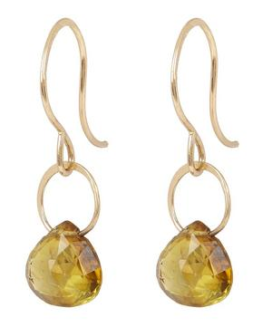 Small Gold and Tourmaline Drop Earrings