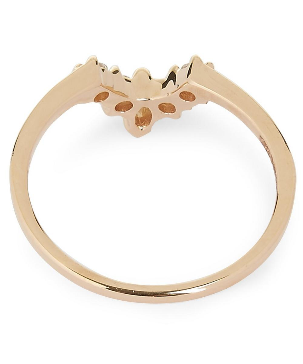 Rose Gold White Diamond Petit Marquise Tiara Ring