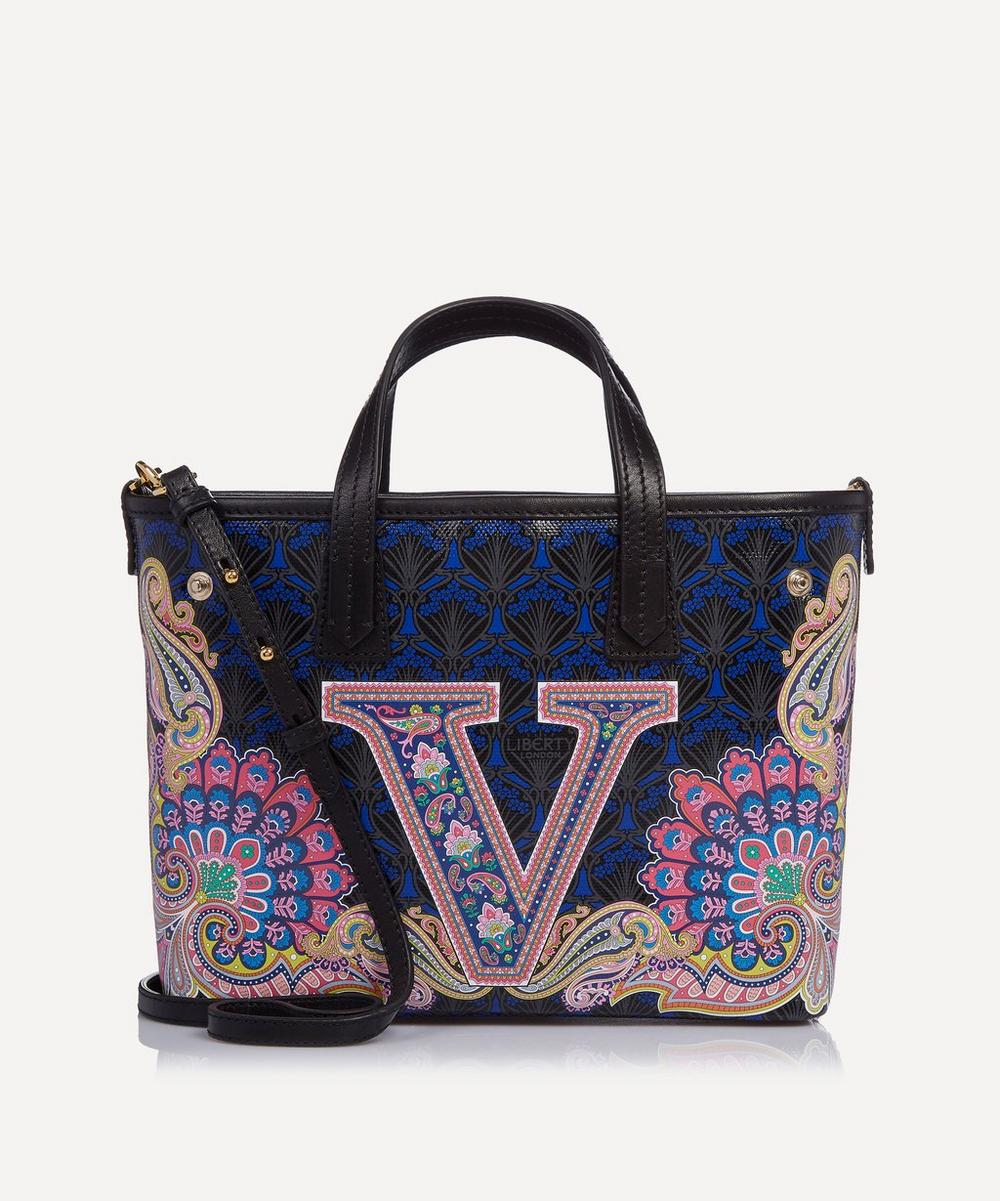 Mini Marlborough Tote Bag in V Print