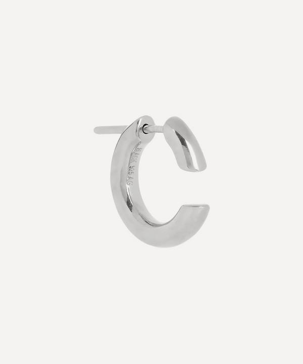 Maria Black - White Rhodium-Plated Disrupted 14 Single Hoop Earring