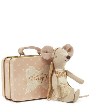 Guardian Angel Mouse in Suitcase