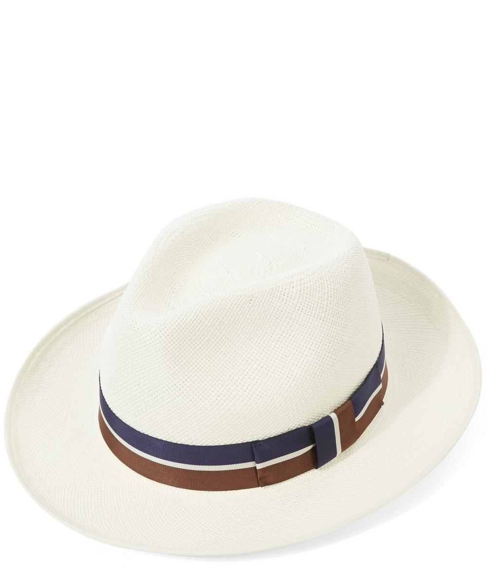 eb18cb9e Classic Regimental Panama Hat | Liberty London
