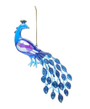 Glittery Peacock Decoration
