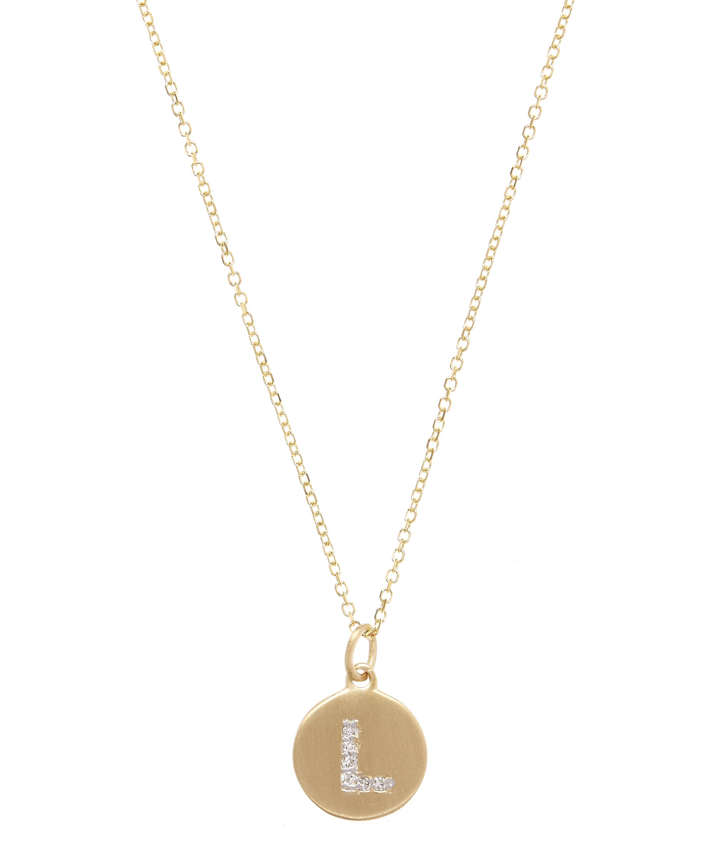 Gold and diamond letter l disc pendant necklace liberty london gold and diamond letter l disc pendant necklace aloadofball Gallery