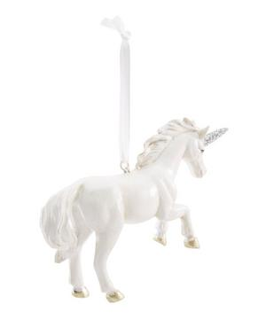White Shimmer Unicorn Decoration