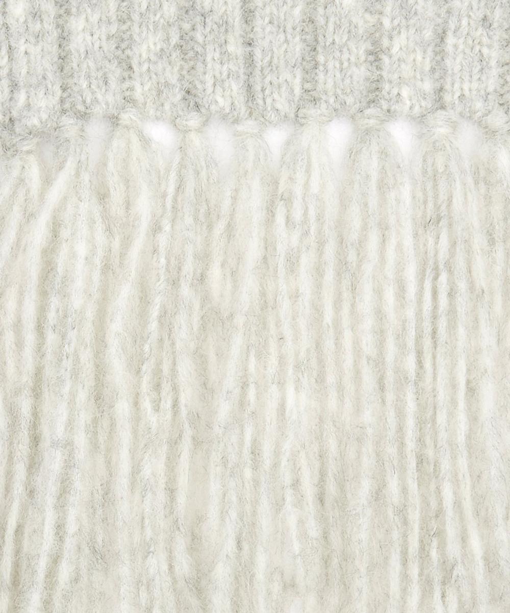Abby Alpaca-Blend Ribbed Knit Scarf