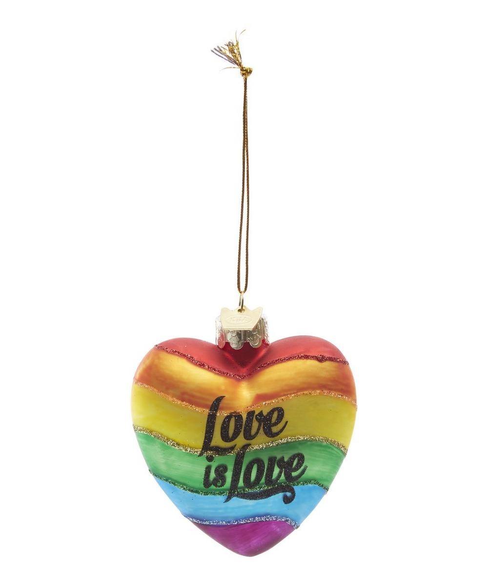 Glass Rainbow Love Is Love Decoration