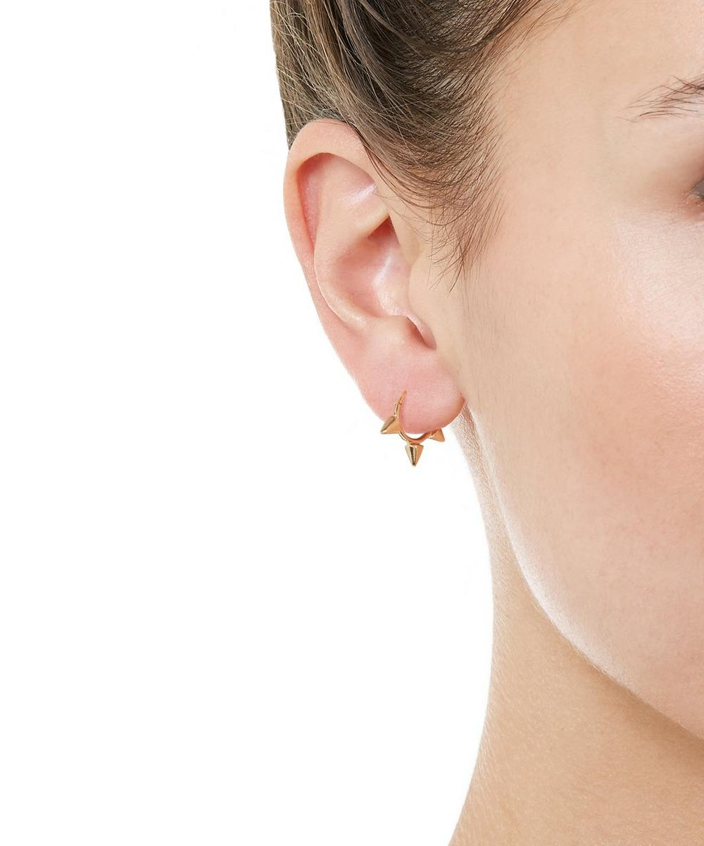 "1/4"" Triple Spike Non-Rotating Hoop Earring"