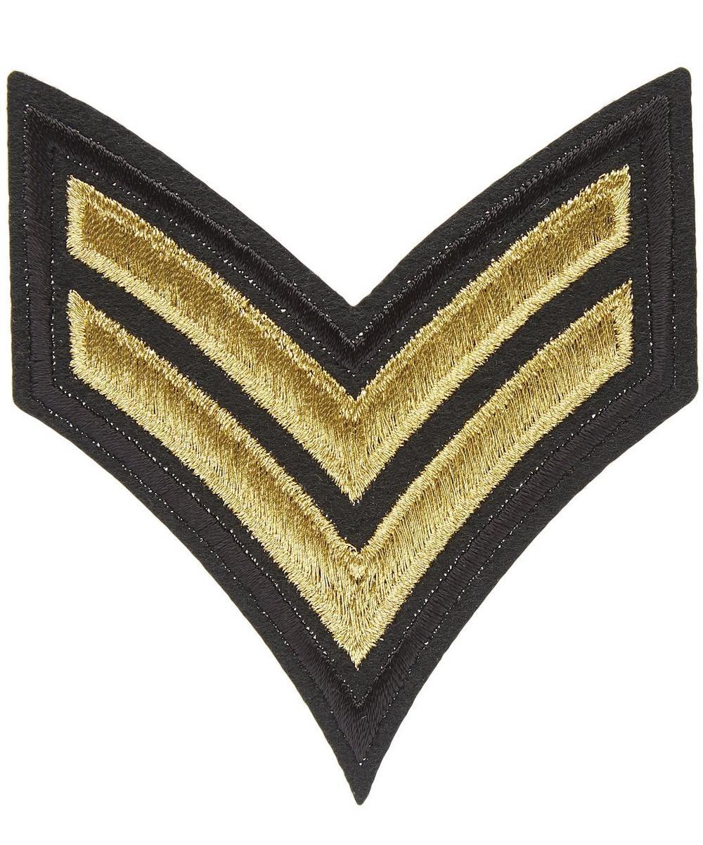 Military Two Stripe Motif Badge