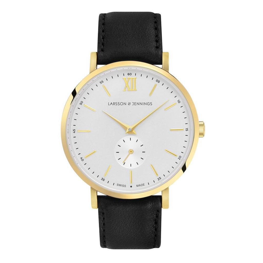 Lugano Kulor 38mm Gold and Leather Watch