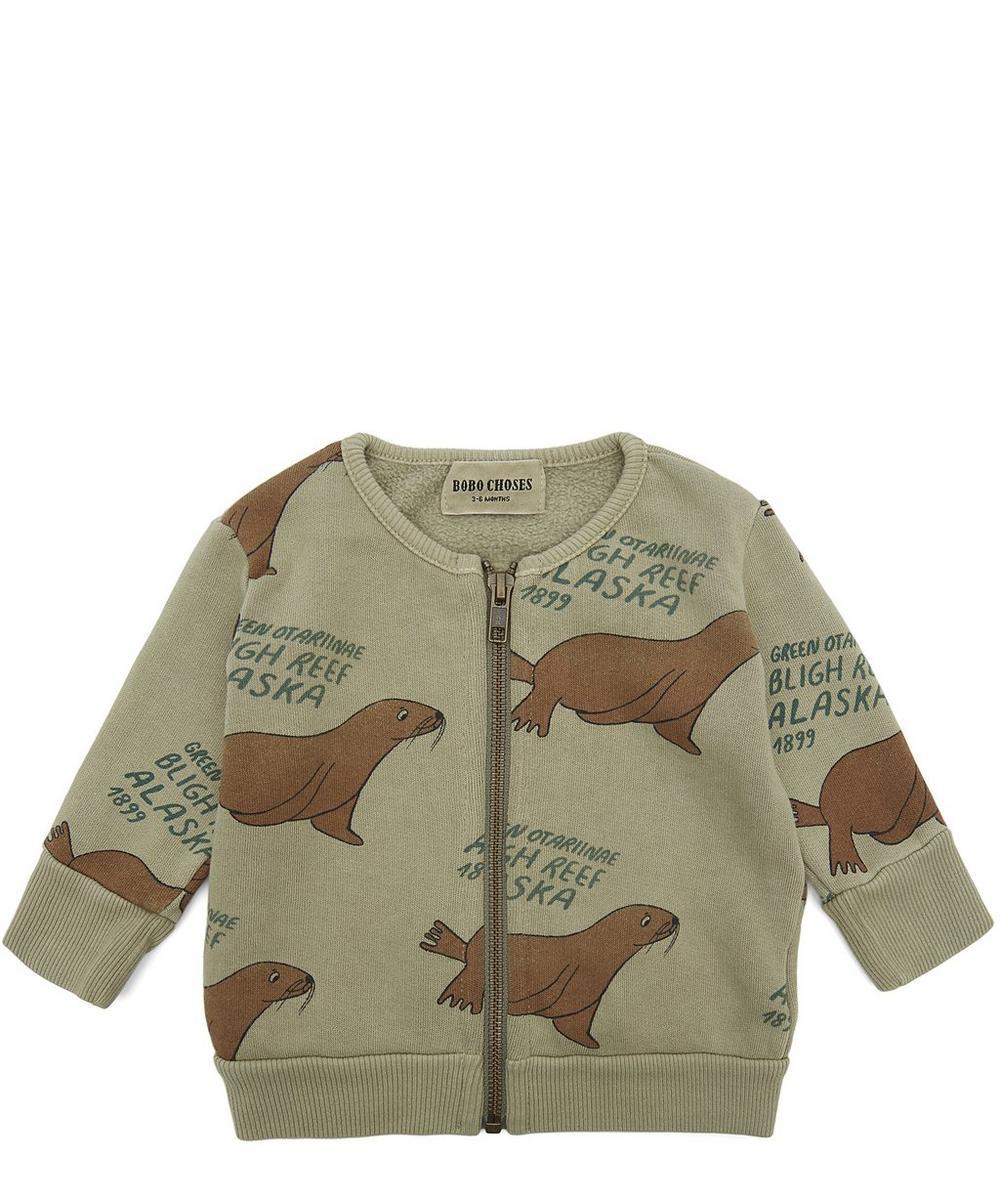 Zip Up Sea Lion Sweatshirt 3-24 Months