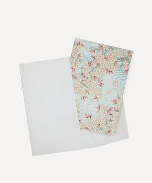 Screen-Printed Blossom In Water Greeting Card