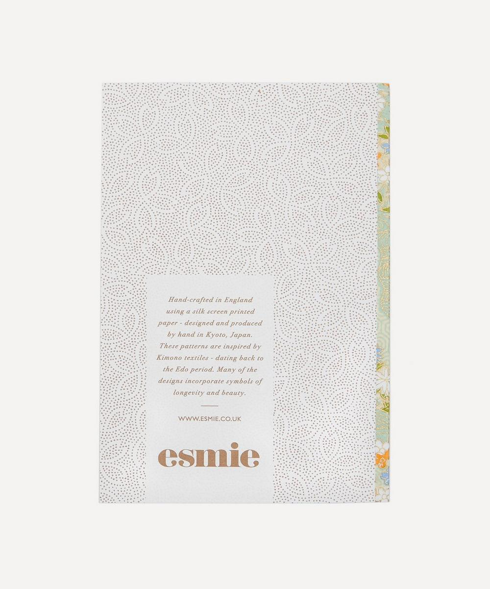 Screen-Printed Flowers Greeting Card