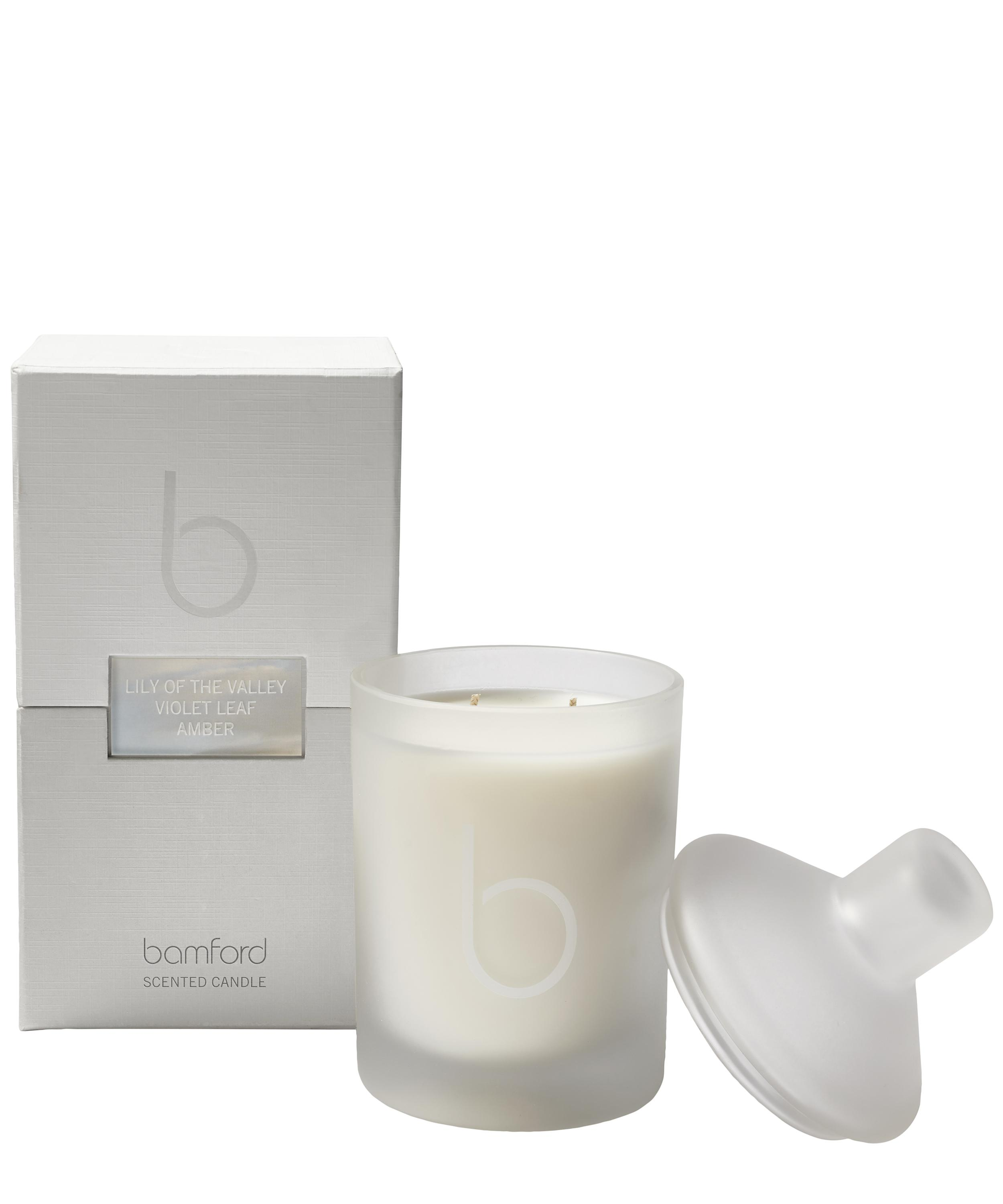 lily of the valley double wick candle 300g liberty london