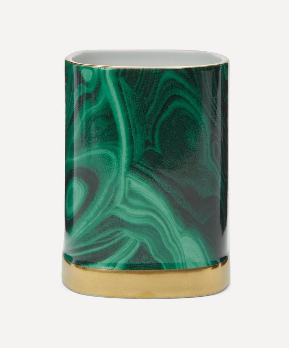 Lobjet Malachite Pencil Cup