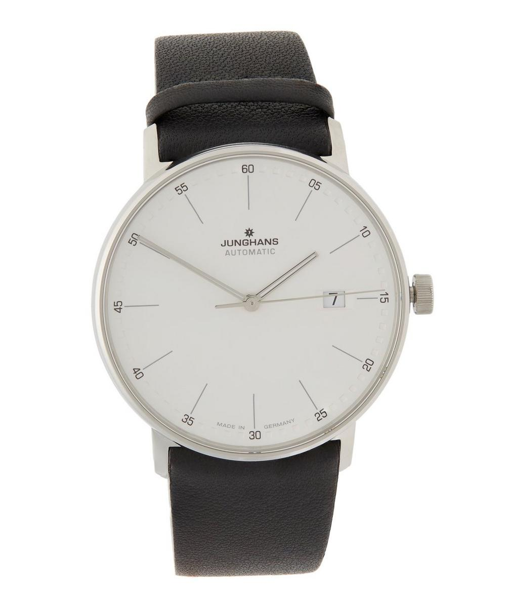 JUNGHANS Form A Automatic Strap Watch in Black
