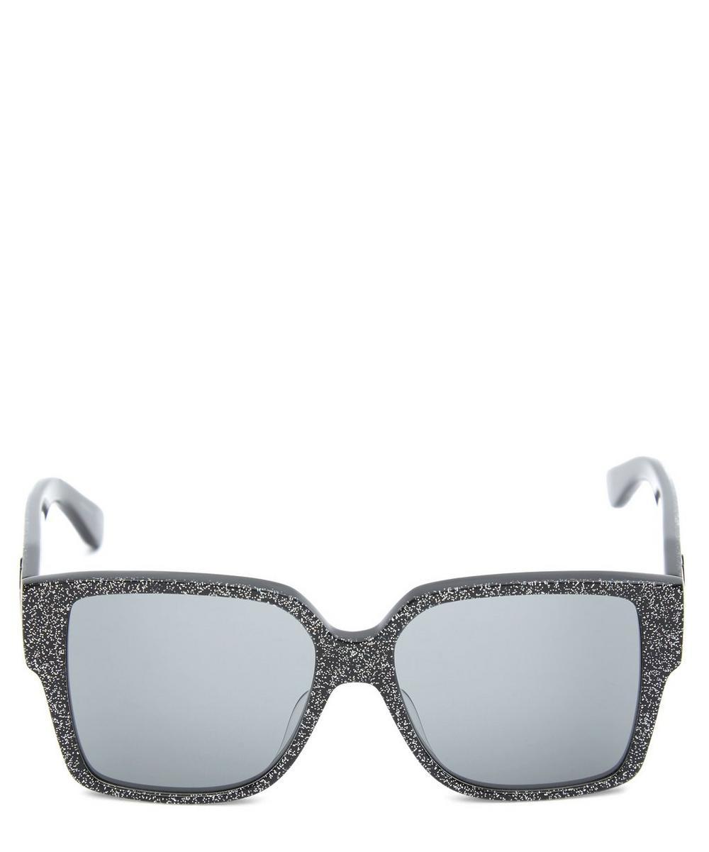 Oversized Square Glitter Sunglasses