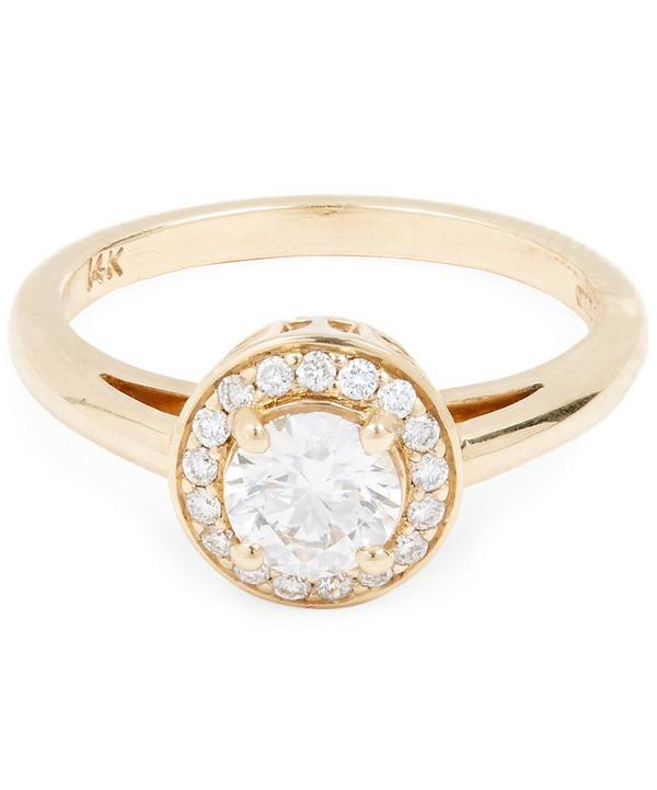 Gold Round Brilliant Diamond Ring