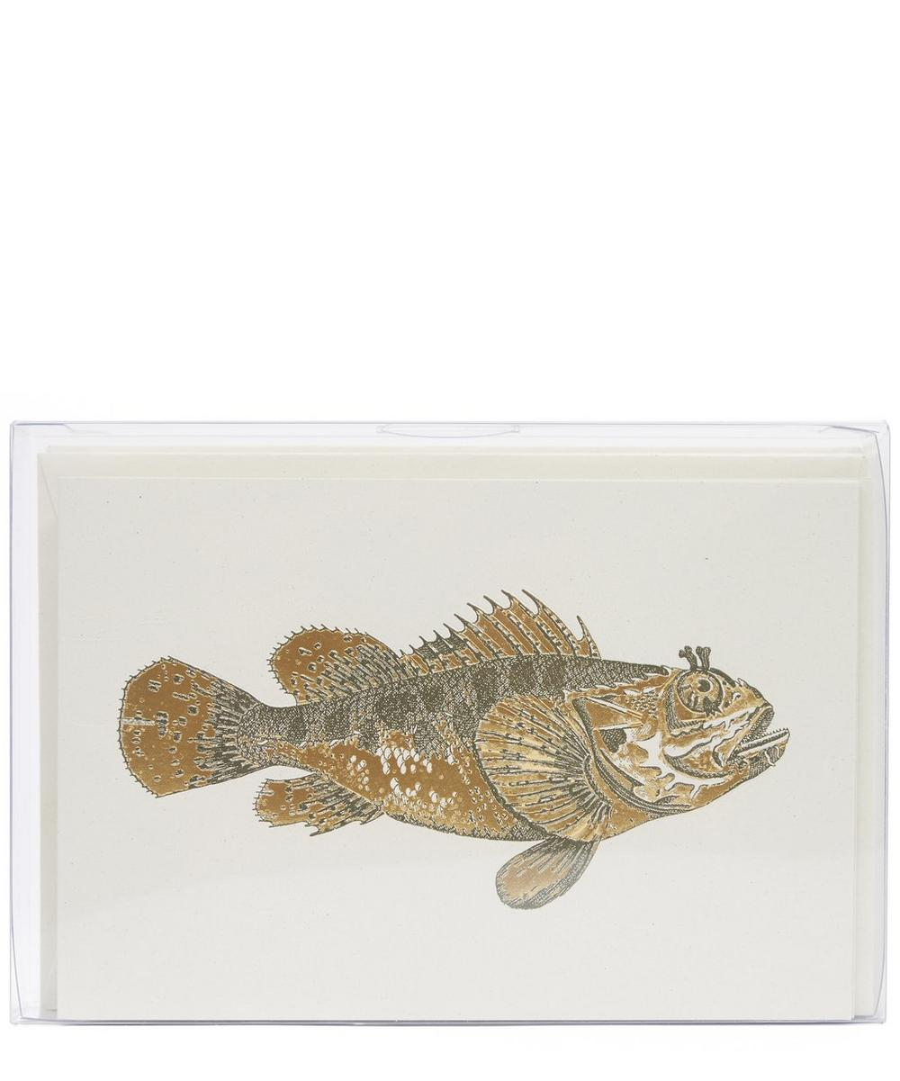 Red Fish Notecards