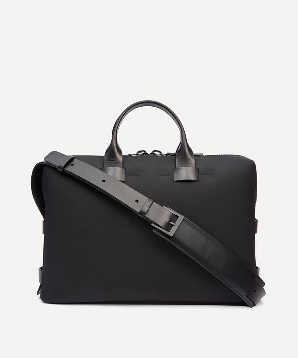 b8bc4d4470cb Fabric and Leather Slim Briefcase ...