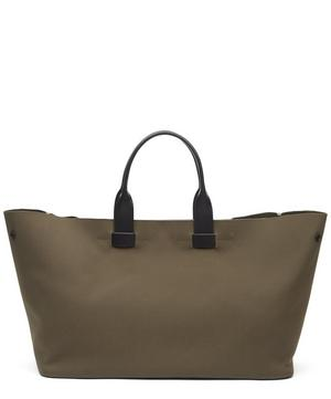 Fabric and Leather Tote