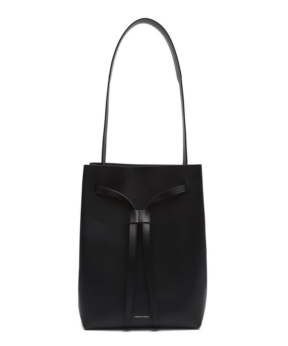 Leather Drawstring Hobo Bag