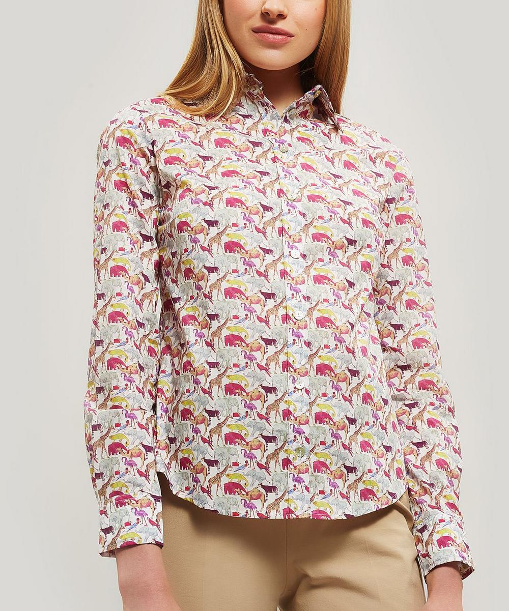 Queue For The Zoo Womens Tana Lawn Cotton Camilla Shirt