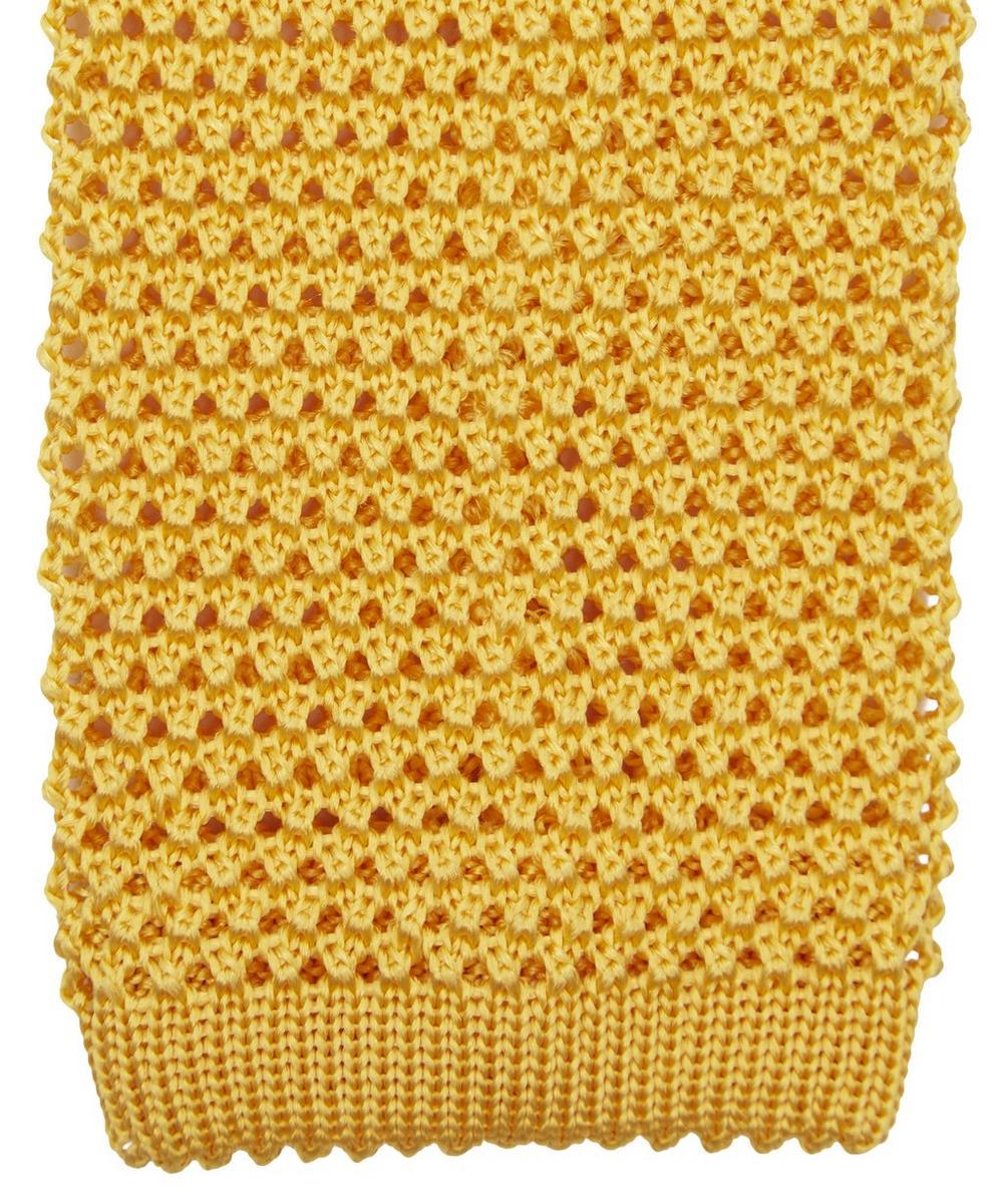 Plain Knit Silk Tie
