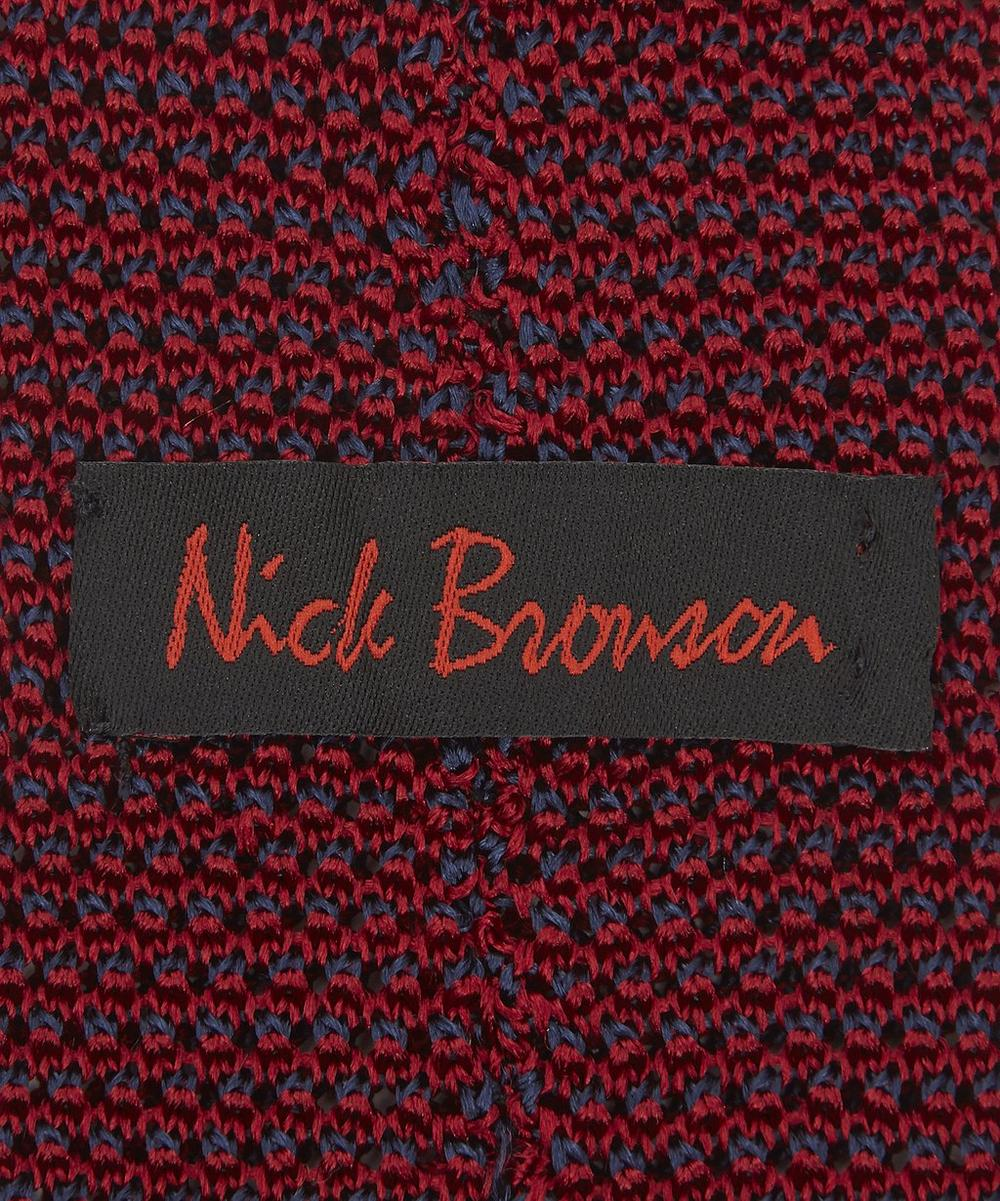 Two Colour Knitted Silk Tie