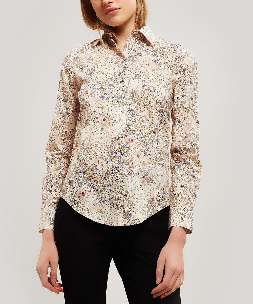 bf3f0c9cf27 Liberty London Adelajda Women S Tana Lawn Cotton Bryony Shirt In Black