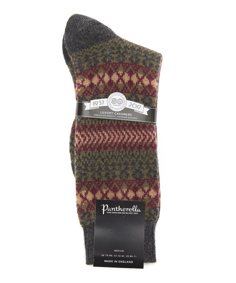 Mapperton Fairisle Cashmere Socks | Liberty London