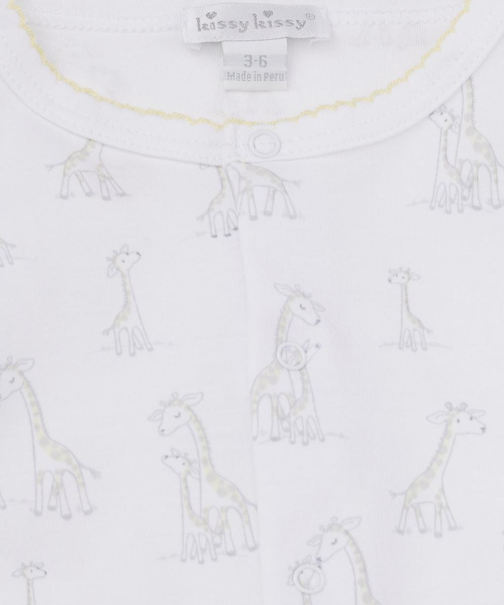 Giraffe Print Footie 0-9 Months