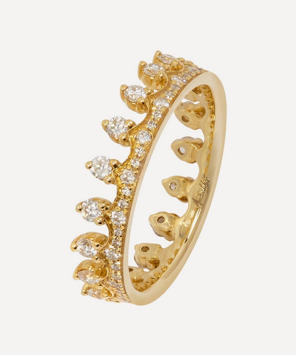 Gold Crown Diamond Ring