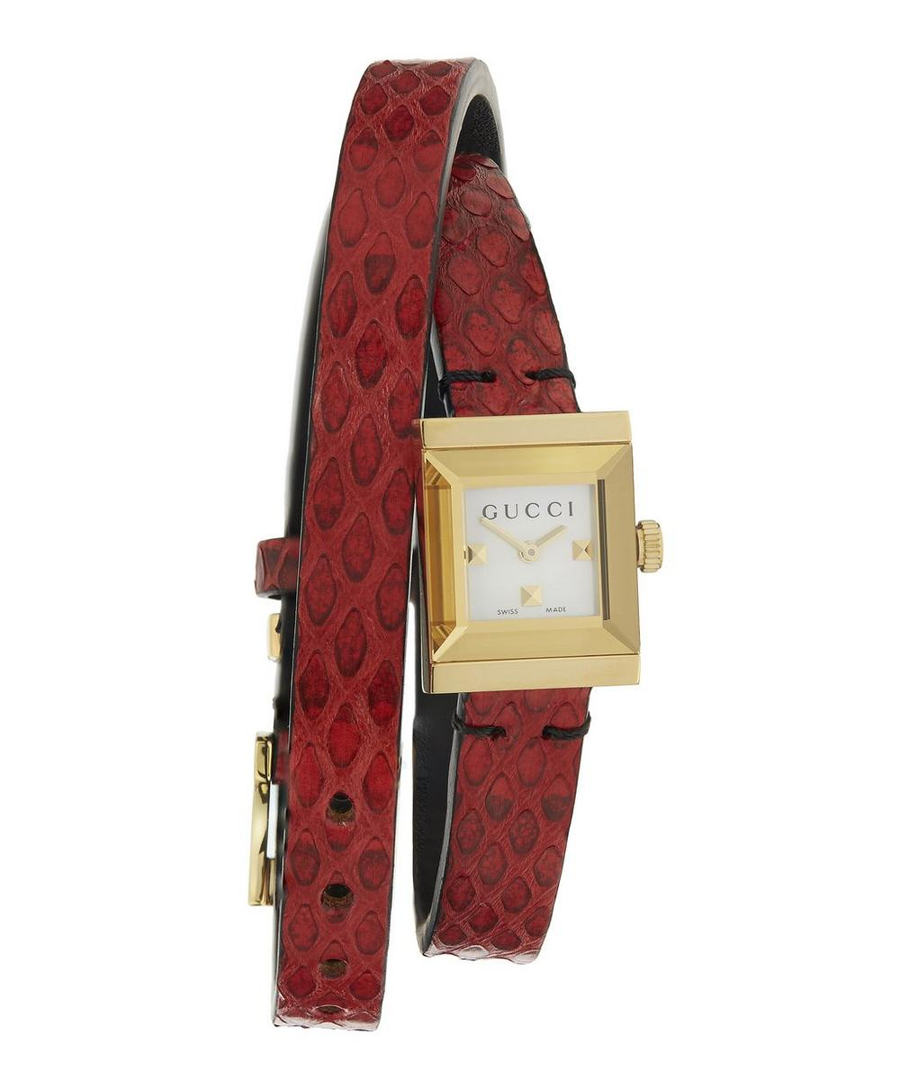 Python Double Wrap Square Watch