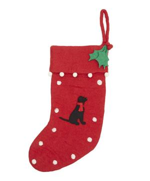 Black Labrador Stocking