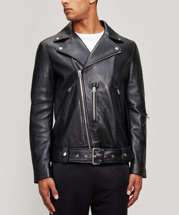 d8fddb61fff Nate Leather Biker Jacket ...