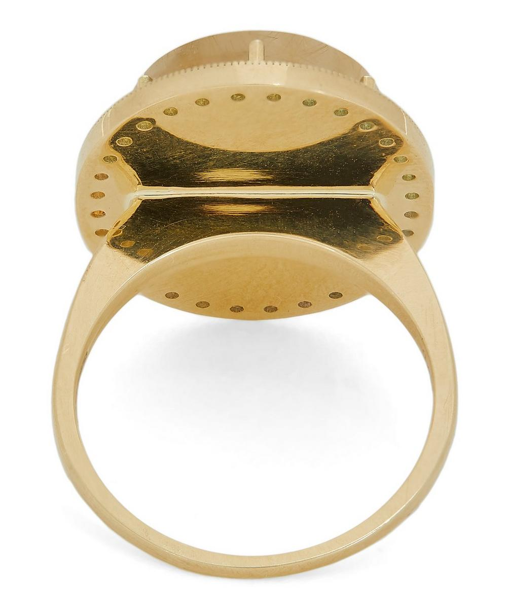 Gold Mother of Pearl Zenith Ring