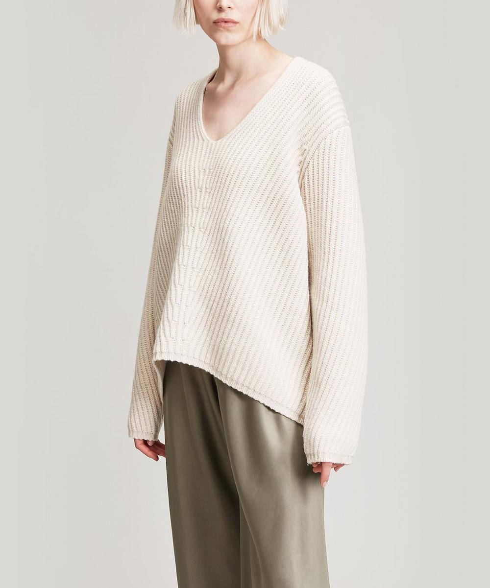 Deborah V-Neck Wool Knit