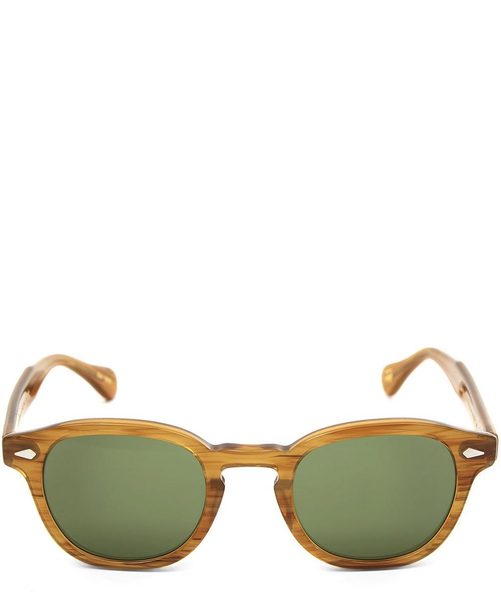 MOSCOT Lemtosh Tortoise Sunglasses in Green
