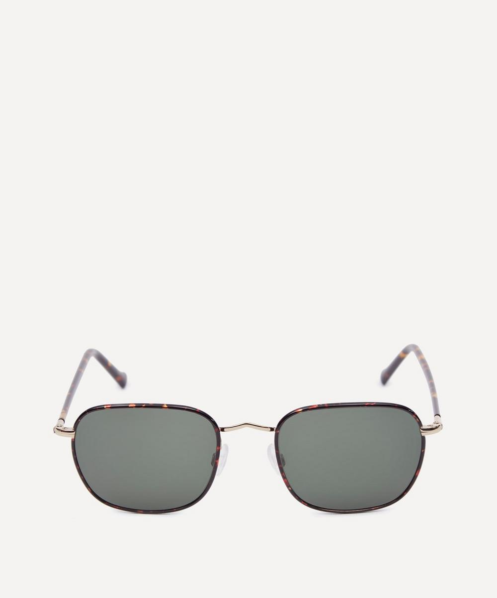 MOSCOT Schlep Tortoise Sunglasses in Gold