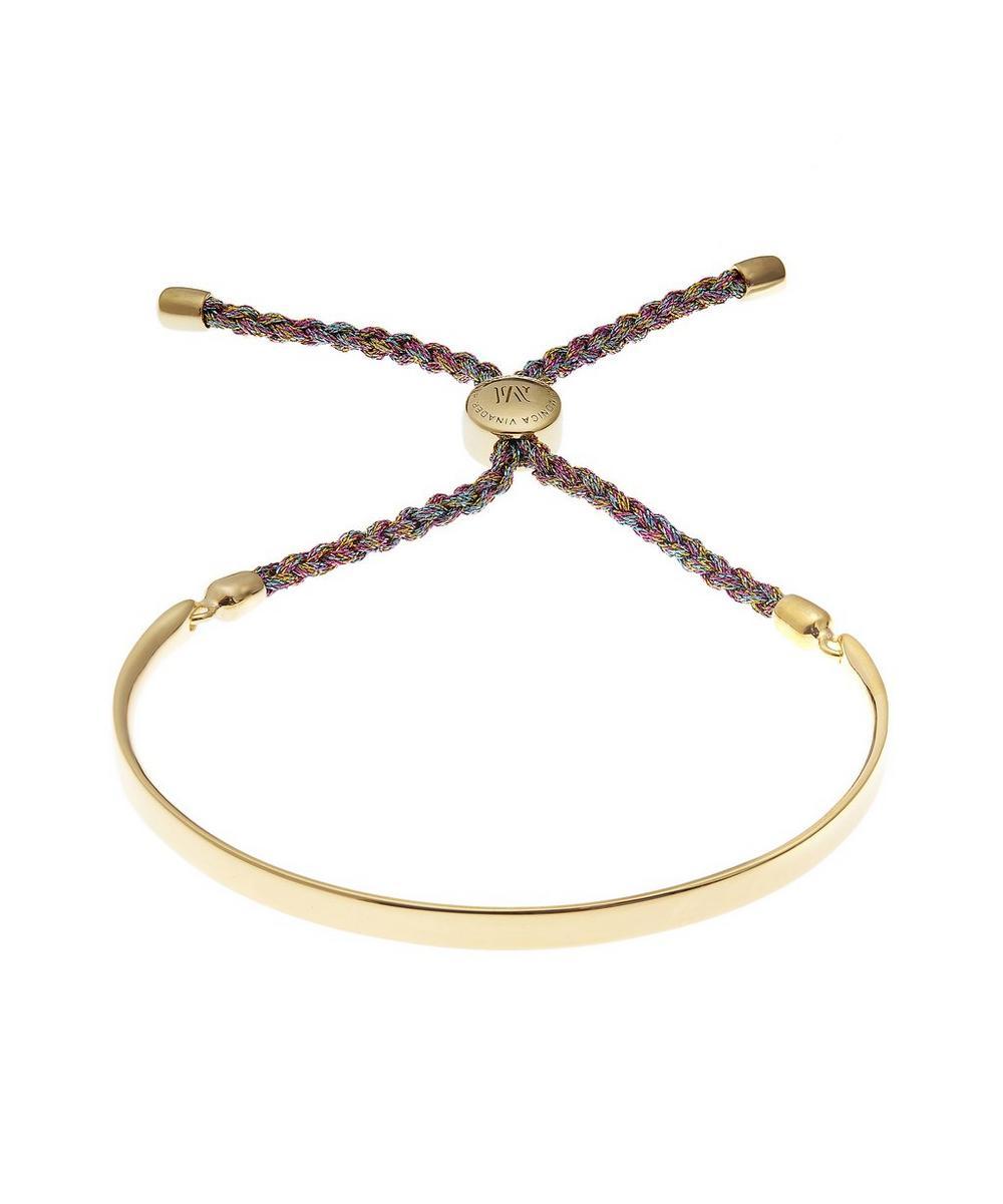 Gold-Plated Fiji Metallica Cord Friendship Bracelet