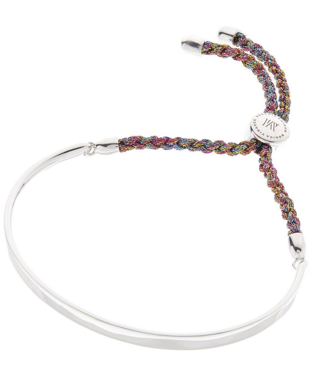 300d066efec75 Silver Fiji Cord Friendship Bracelet   Liberty London