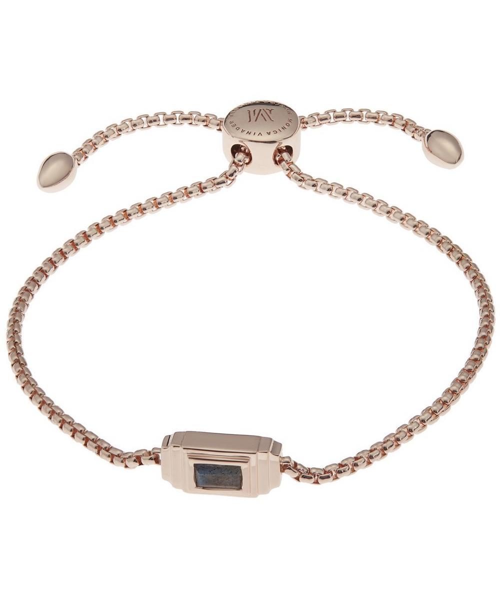 Rose Gold-Plated And Labradorite Baja Deco Bracelet